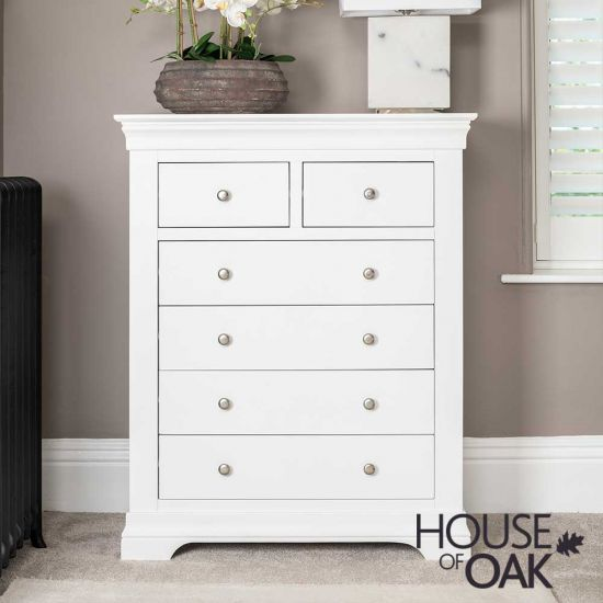 Chester White 2 Over 4 Chest of Drawers