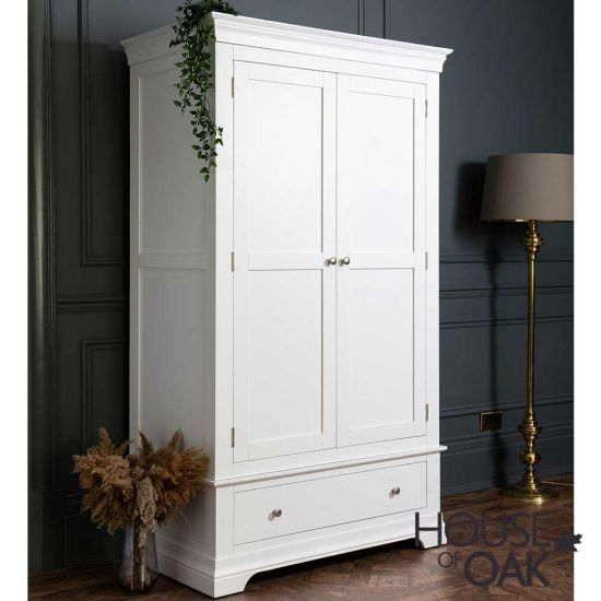 Chester White Double Wardrobe with 1 Drawer