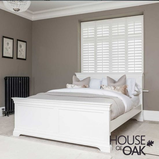 Chester White 5FT King Size Bed