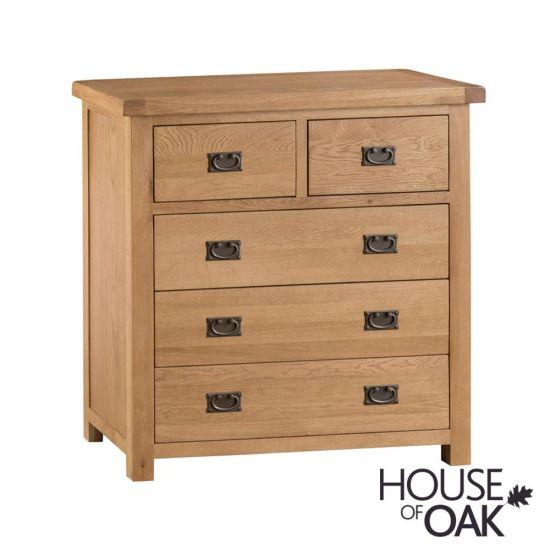 Harewood Oak 3+2 Drawer Chest