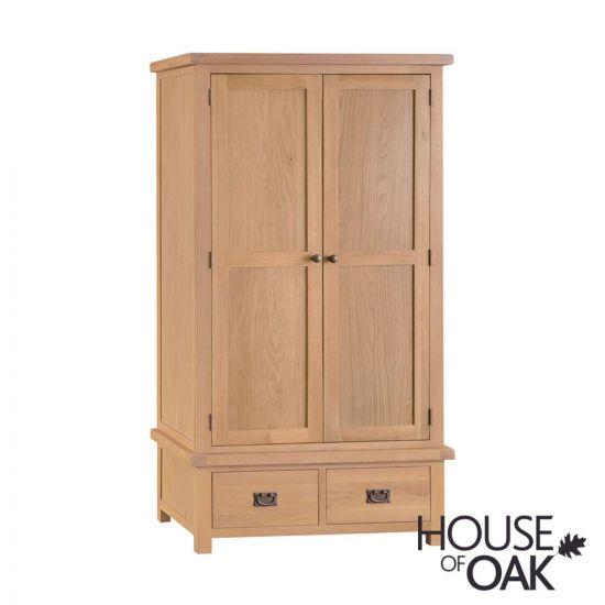 Harewood Oak Large 2 Door 2 Drawer Wardrobe