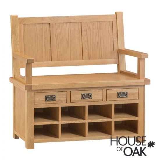 Harewood Oak Monks Bench
