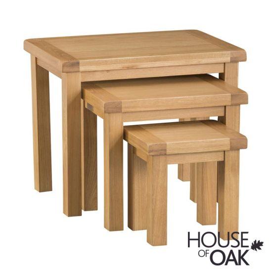 Harewood Oak Nest of 3 Tables