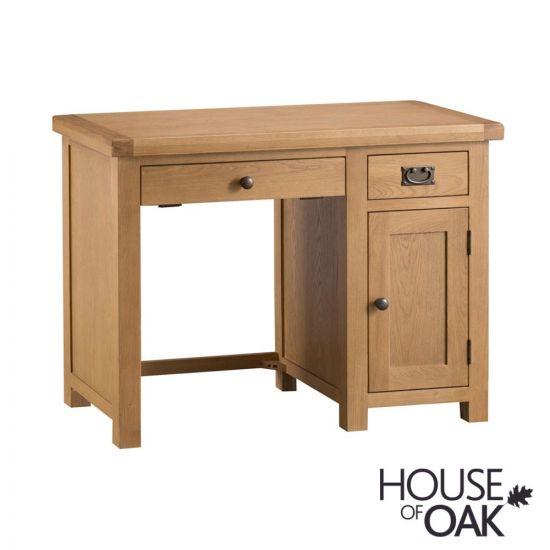 Harewood Oak Single Computer Desk