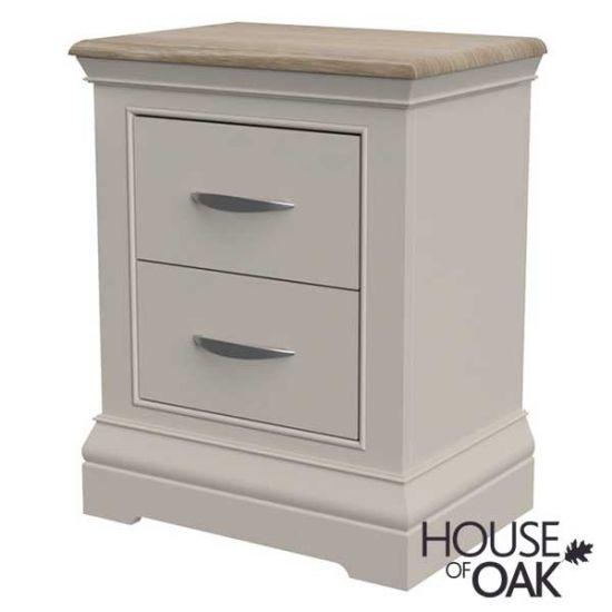 Kirkstone Winter Mist 2 Drawer Bedside Cabinet