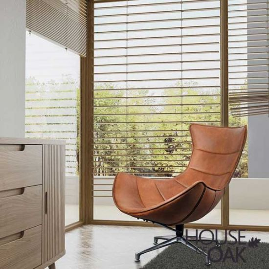 Costello Occasional Chair in Brown Leather