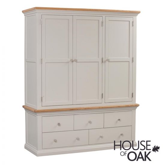 Cotswold Moonlight Triple Wardrobe with Drawers