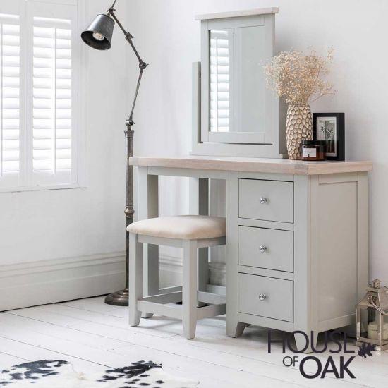 Ella Chalked Oak & Misty Grey - Dressing Table