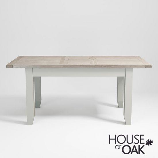 Ella Chalked Oak & Misty Grey - 140cm Extending Table