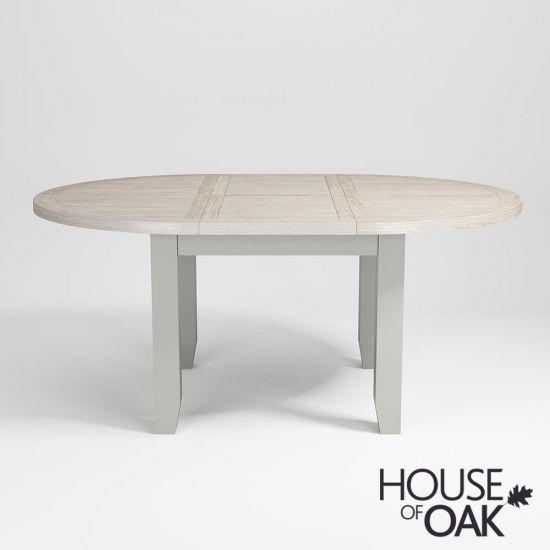 Ella Chalked Oak & Misty Grey 110cm Round Extending Dining Table