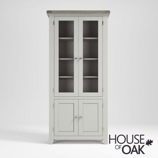 Ella Chalked Oak & Misty Grey - Display Cabinet