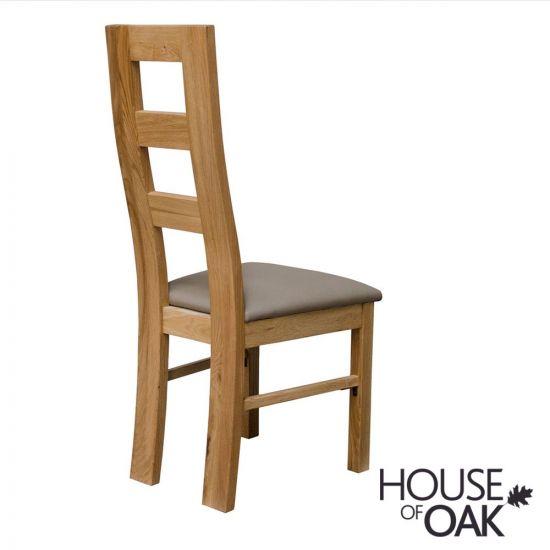 Deluxe Oak Wave Chair