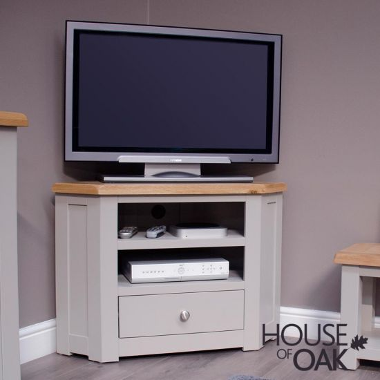 Diamond Grey Corner TV Cabinet