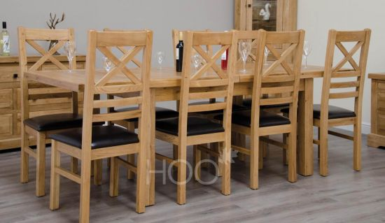 Deluxe Oak 150cm Extending Table