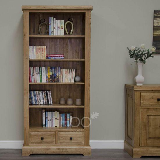 Deluxe Oak Large Bookcase