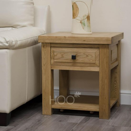 Deluxe Oak Lamp Table