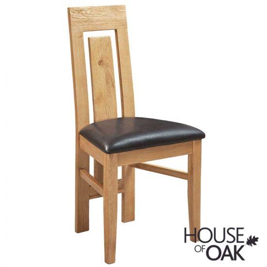 Keswick Oak Verona Chair with Dark Brown Seat Pad