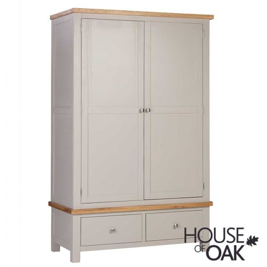 Keswick in Putty Double Wardrobe with 2 Drawers