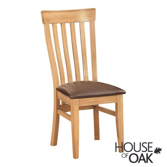 Keswick Oak Toulouse Chair with Dark Brown Seat Pad