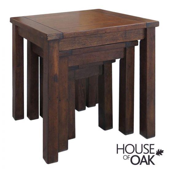 Driftwood Reclaimed Pine Nest of Tables