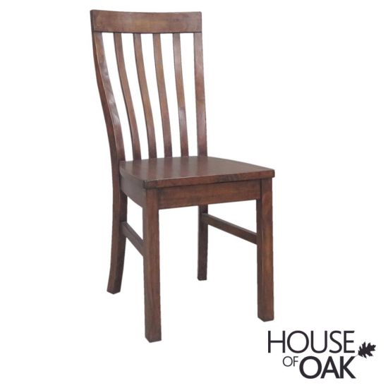 Driftwood Reclaimed Pine Chair with Wooden Seat