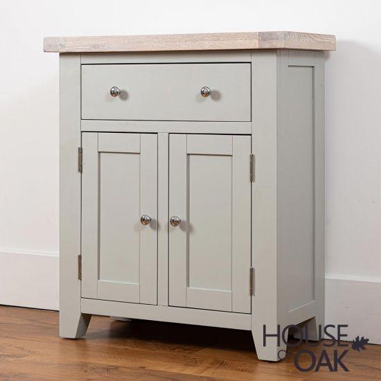 Ella Chalked Oak & Misty Grey - Small Sideboard