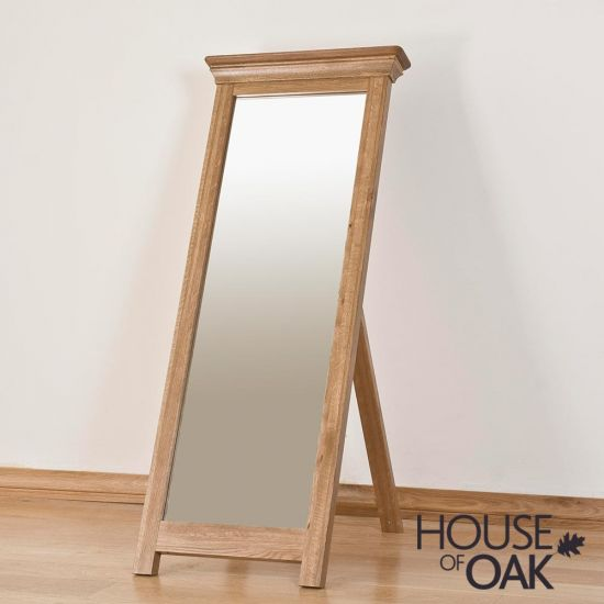 Paris Solid Oak Cheval Mirror