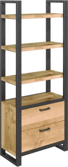Harmony Oak Bookcase with Drawers