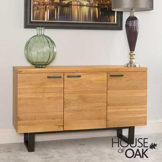 Harmony Oak - 3 Door Sideboard