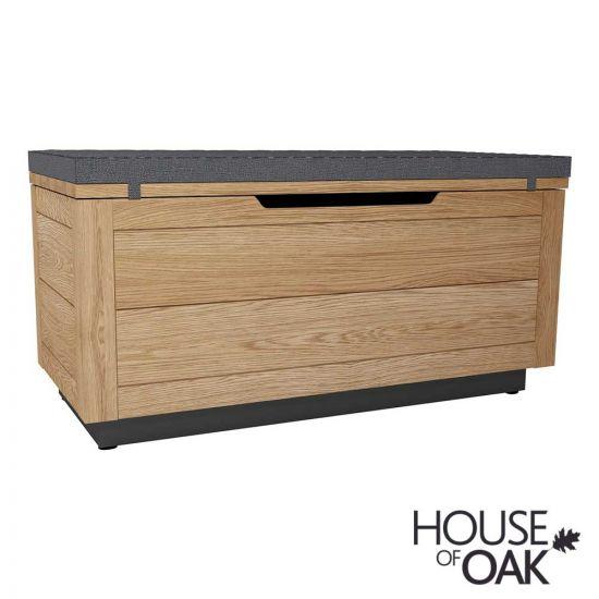 Harmony Oak Ottoman