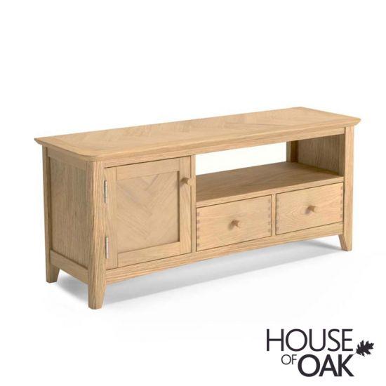 Malmo Oak Wide TV Cabinet