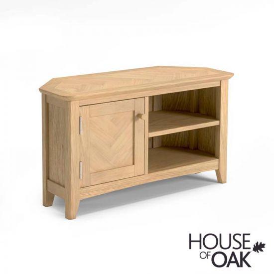 Malmo Oak Corner TV Cabinet