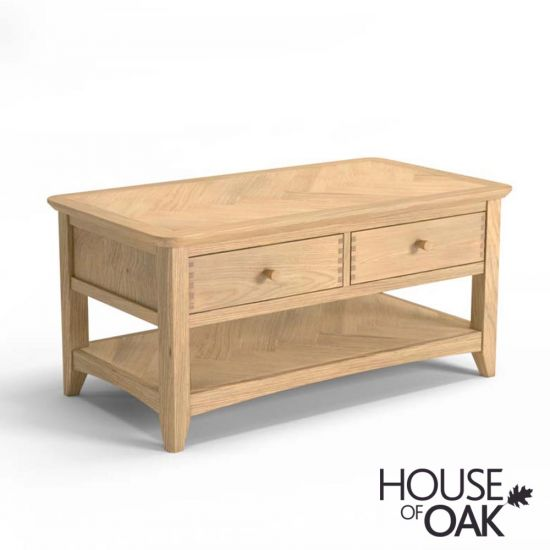 Malmo Oak Coffee Table With Drawers