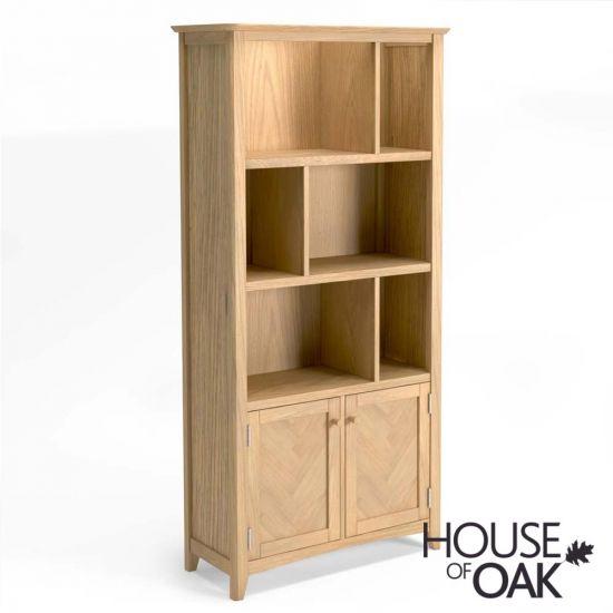Malmo Oak Large Multistore Bookcase