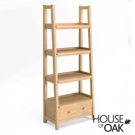 Malmo Oak Ladder Display Bookcase