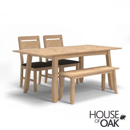 Malmo Oak 140cm Extending Dining Table