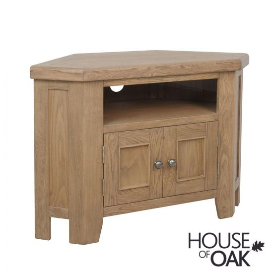 Chatsworth Oak Corner TV Cabinet