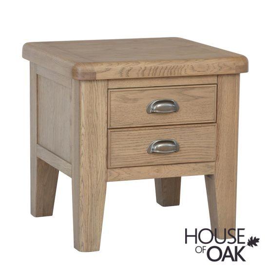 Chatsworth Oak 2 Drawer Lamp Table
