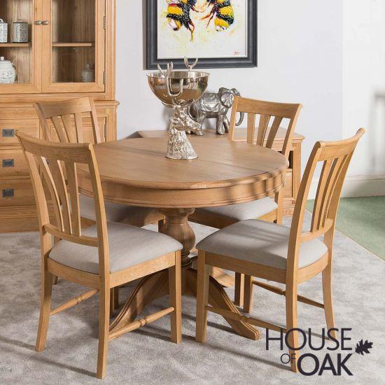 Lyon Oak Round Extending Table