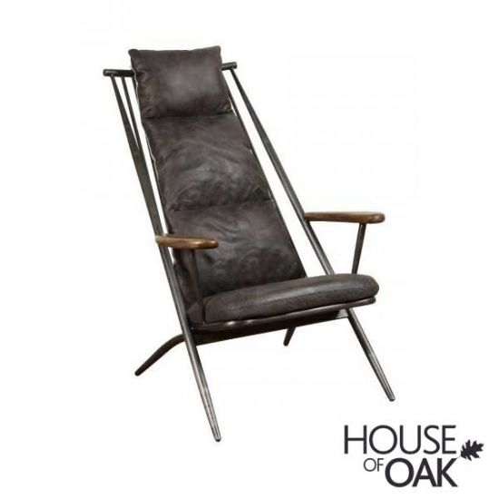 Huntingdon Studio Chair in Grey Leather