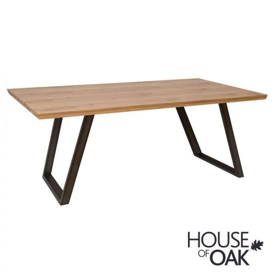 Forged Oak 140cm Dining Table