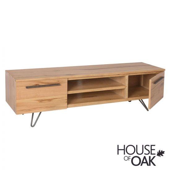 Forged Oak TV Cabinet