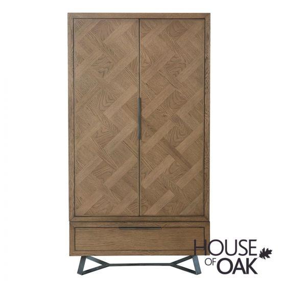 Parquet Oak 2 Door Wardrobe