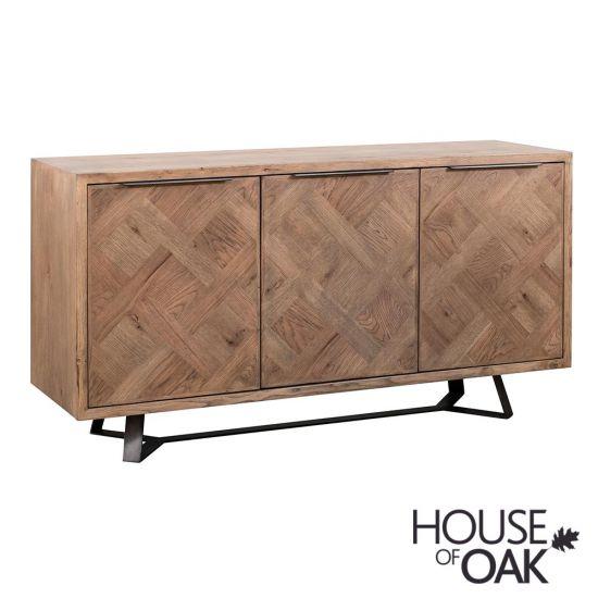 Parquet Oak 3 Door Sideboard
