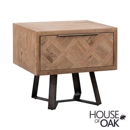 Parquet Oak Lamp Table