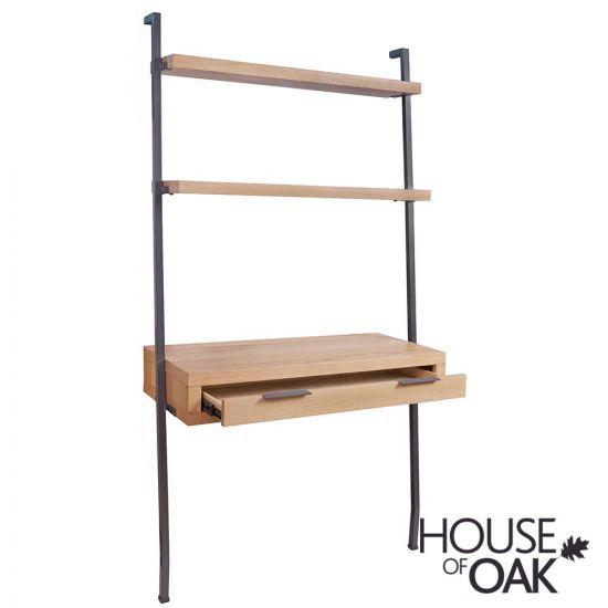 Fusion Oak Desk Bookcase