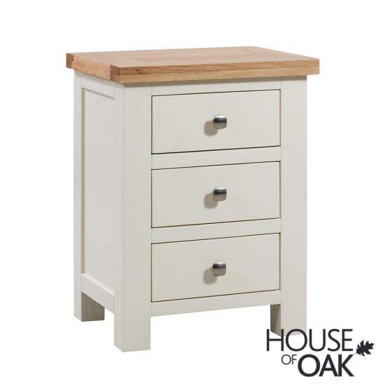 Keswick in Ivory 3 Drawer Bedside Cabinet