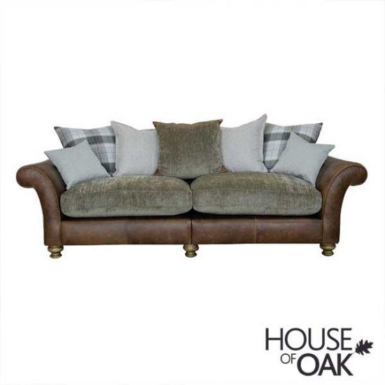 Alexander & James Lawrence 4 Seater Pillow Back Sofa - Option 1
