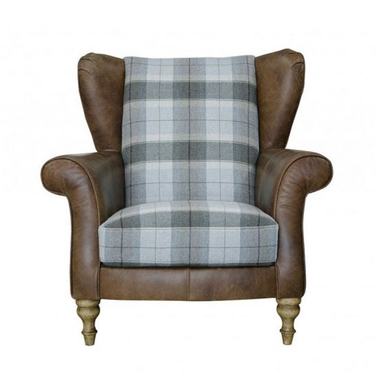 Alexander & James Lawrence Plaid Wing Chair - Option 1