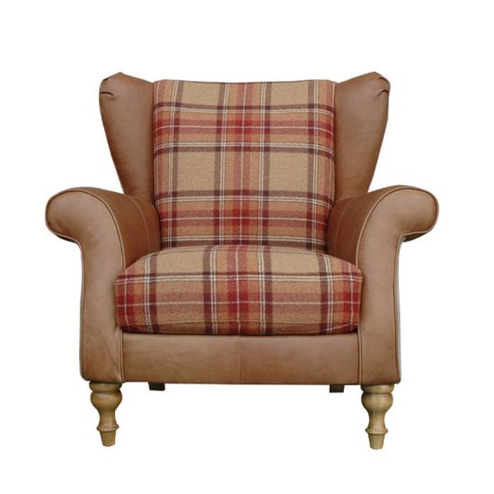 Alexander & James Lawrence Plaid Wing Chair - Option 2